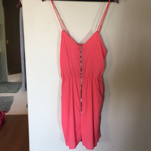Salmon Pink Francesca Closet Zipper Front Dress